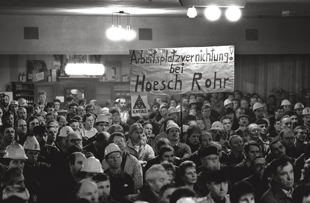 Demonstration bei Hoesch-Rohr