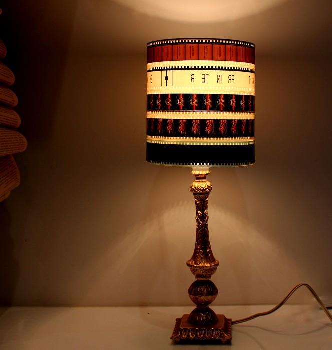 vintage movie lampshade