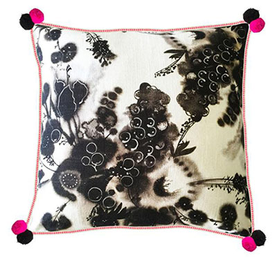 Charcoal Berries Cushion 50cm x 50cm - $99.00