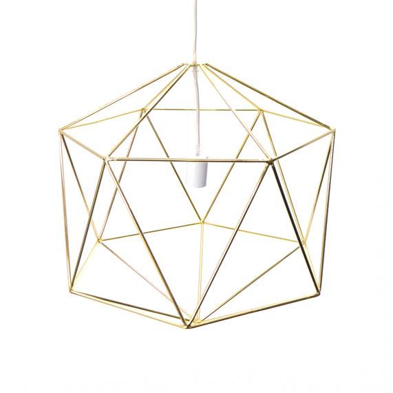 Hex Pendant - Gold - POA