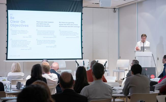 """- Duncan presenting at the Splash Worldwide Thinkfast event, """"5 things to know about DCO"""" (London, 1st March 2019)"""