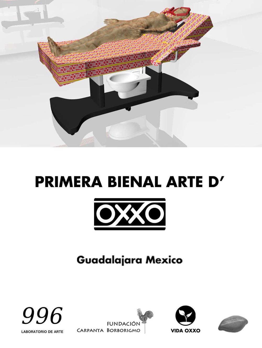 Flyer Bienal Arte D´OXXO