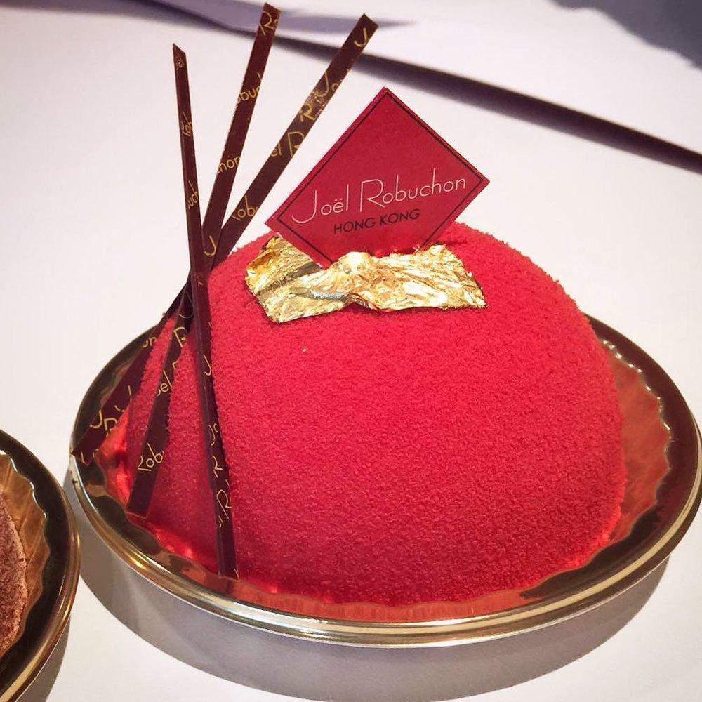 Joel Robuchon's rose cake.  Image source .