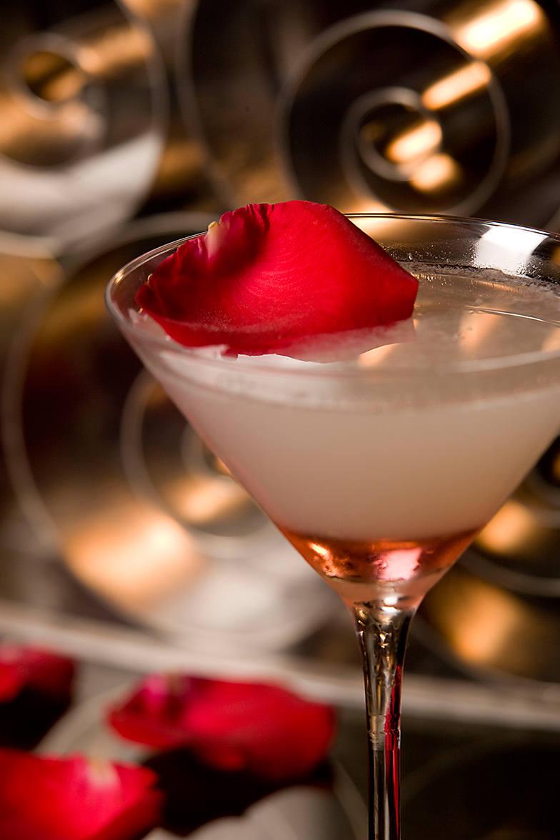 MO Bar's Rose Petal Cocktail.  Image source.