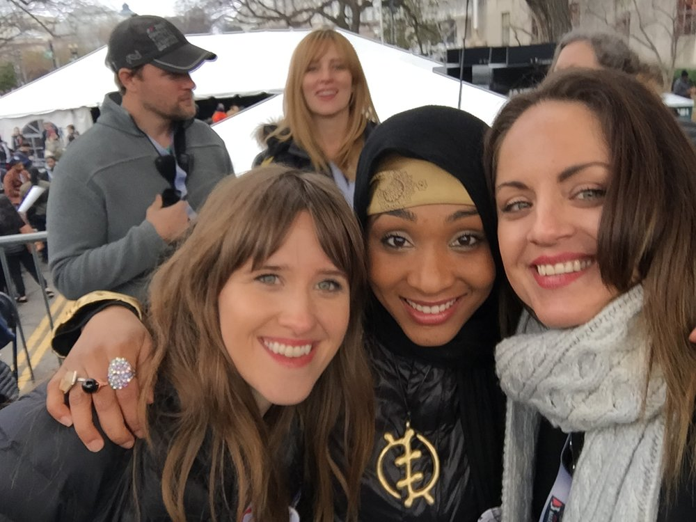 Vocalist Amber Coffman of The Dirty Projectors, Rapper Alia Sharrief and I