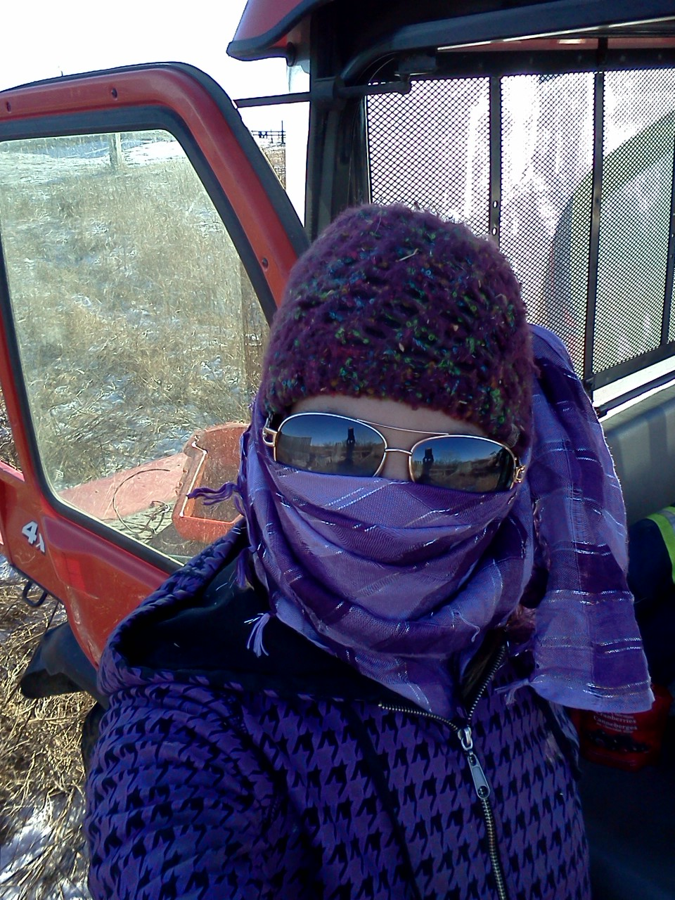On Wednesdays we wear purple...and use chainsaws!