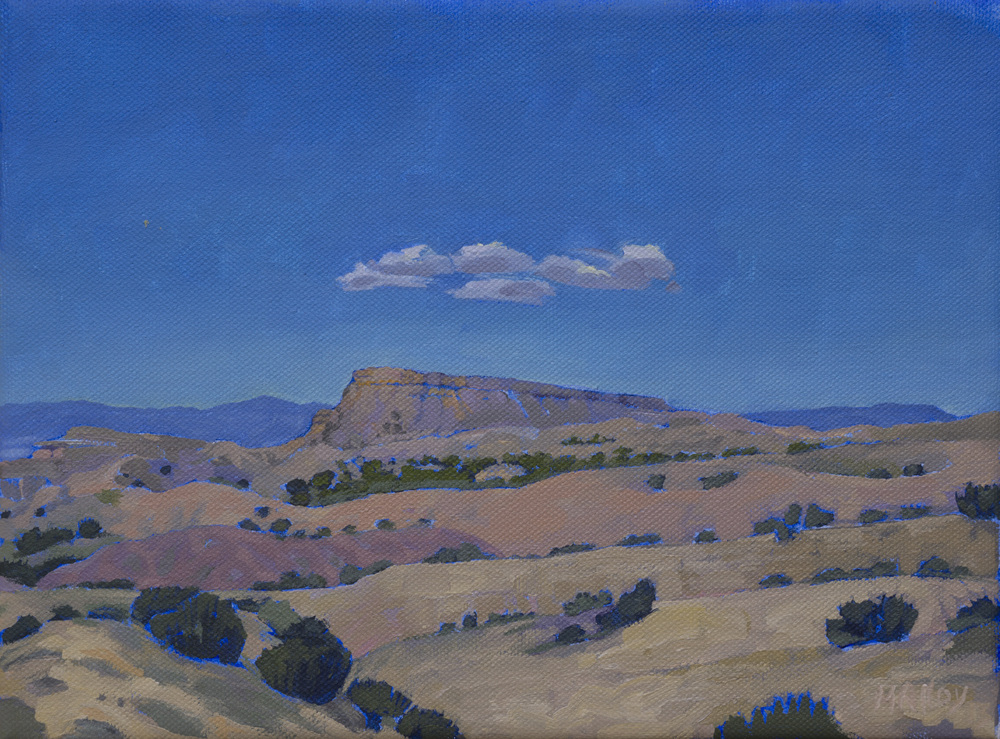 "Chimayo, New Mexico. Acrylic on canvas 8""x10"", 2013"