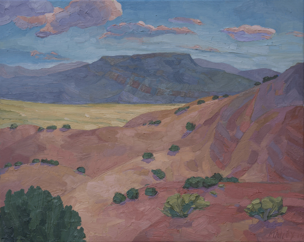 "Ghost Ranch Mesa. Oil on canvas, 16""x20"", 2014"