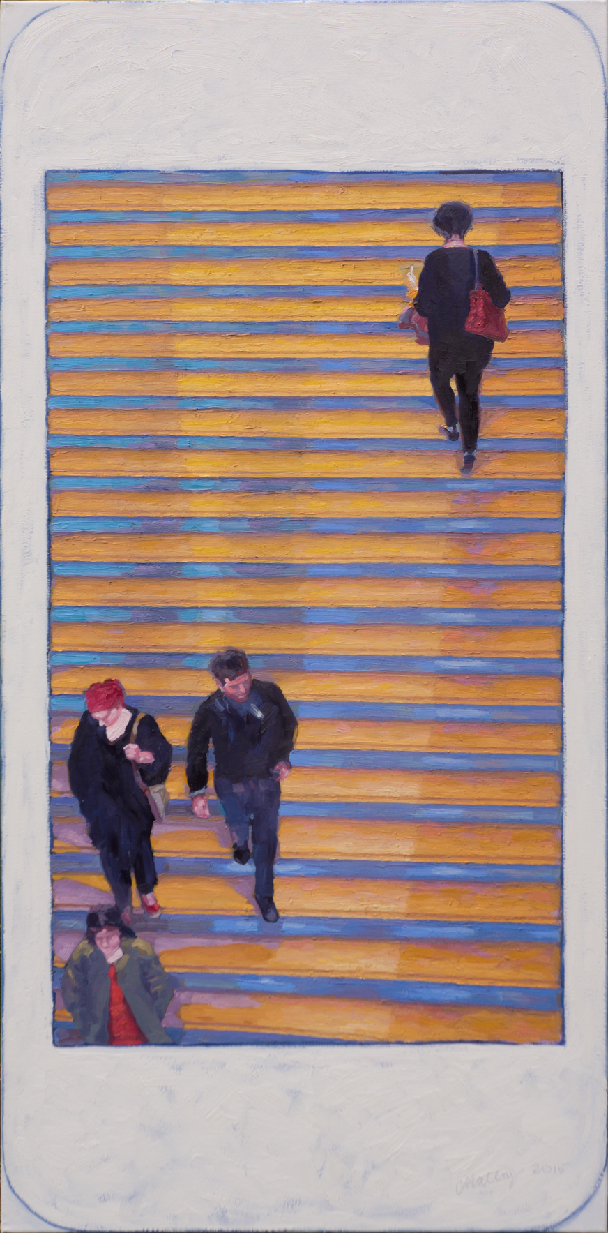 "Hashtag METmuseum grand staircase 2. Oil on canvas 24"" x 48"" 2015"