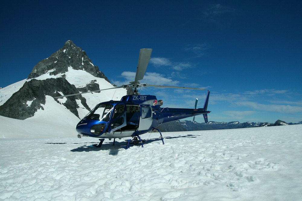 Helicopter on Donne Glacier | Reid Burchell Photography