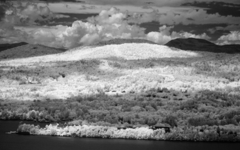 The Sagamore Hotel from Shelving Rock Mountain (Infrared)