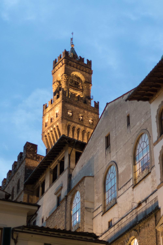 Palazzo Vecchio at Dusk, Tuscany, Italy | Reid Burchell Photography