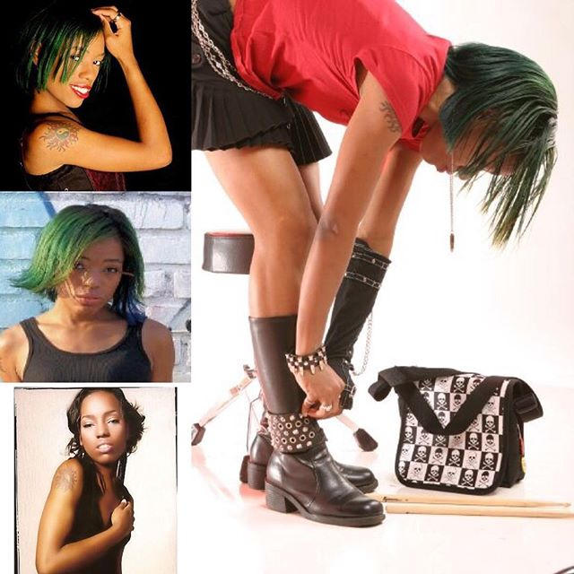 #2018 first #tbt of 10 years ago when I was a #Hair color #hairnerd and had my #greenhair had #redhair #blonde an accidental #rainbowhair with #spikes pyramids #skulls on a daily basis but did #highfashion #modeling as my #alternativemodel #moments I'm #happy with what I am building & my eyes are in those programs to help others I've never lost my #fire & I never will. This is from a gig to #shoot for a cover of a #book an online #magazine #blog & I can't remember the other 2. I #love my #journey I can walk through #hell with a smile on my face because I #always climb out.