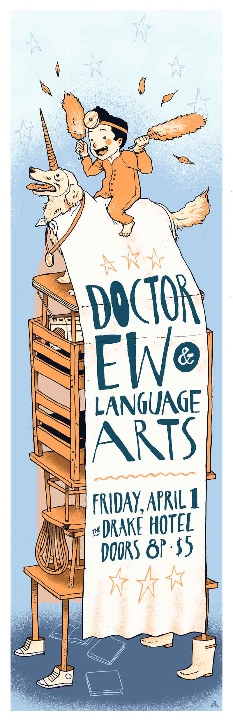 Poster illustration for Language Arts