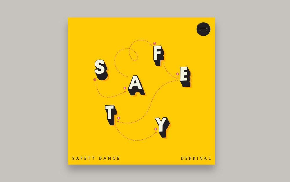 Artwork for Derrival's cover of Men Without Hats' Safety Dance. Digital release only.
