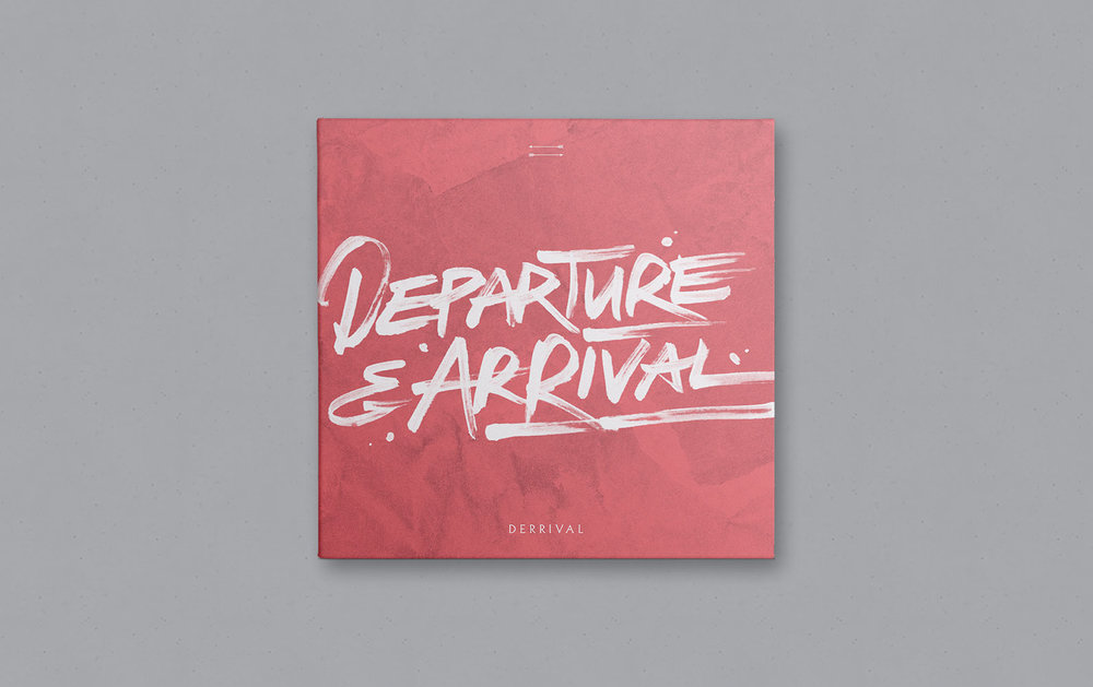 Artwork for Derrival's EP,  Departure & Arrival . Posters and tour merchandise were created to promote their Candian tour that season.