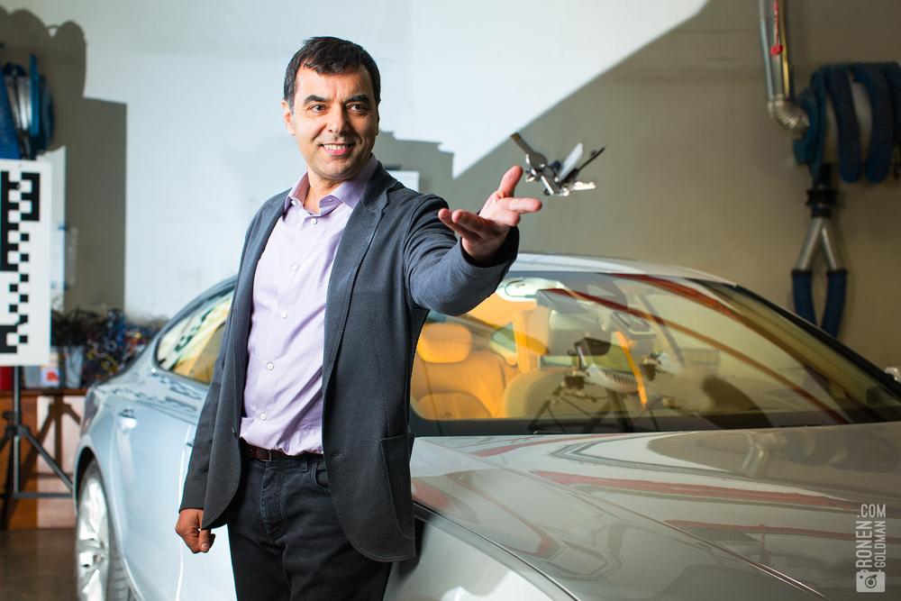 Mobileye cofounder Prof. Amnon Shashua Stands in Front of self driving car. 2016. READ FULL ARTICLE ON FORBES WEBSITE, or IN PRINTED MAGAZINE out JUNE 29.