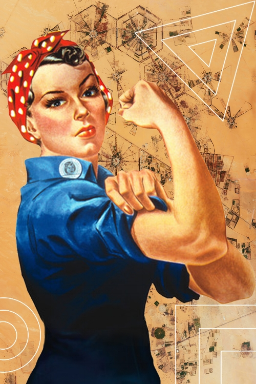 Rosie The Riveter by Norman Rockwell / Edit by me