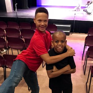 Malik, Production Apprentice, and Kamran, Student-Dancer.