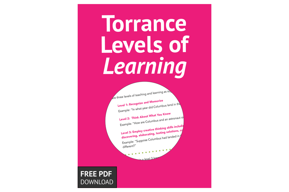 Free Download: Torrance Levels of Learning