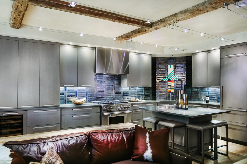 Modern Grey Slab Kitchen | Custom Cabinets In Vail By Timeless Millworks