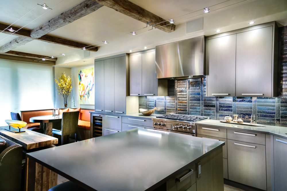 Gray Modern Industrial Style Kitchen | Vail Custom Cabinet Maker | Timeless  Millworks