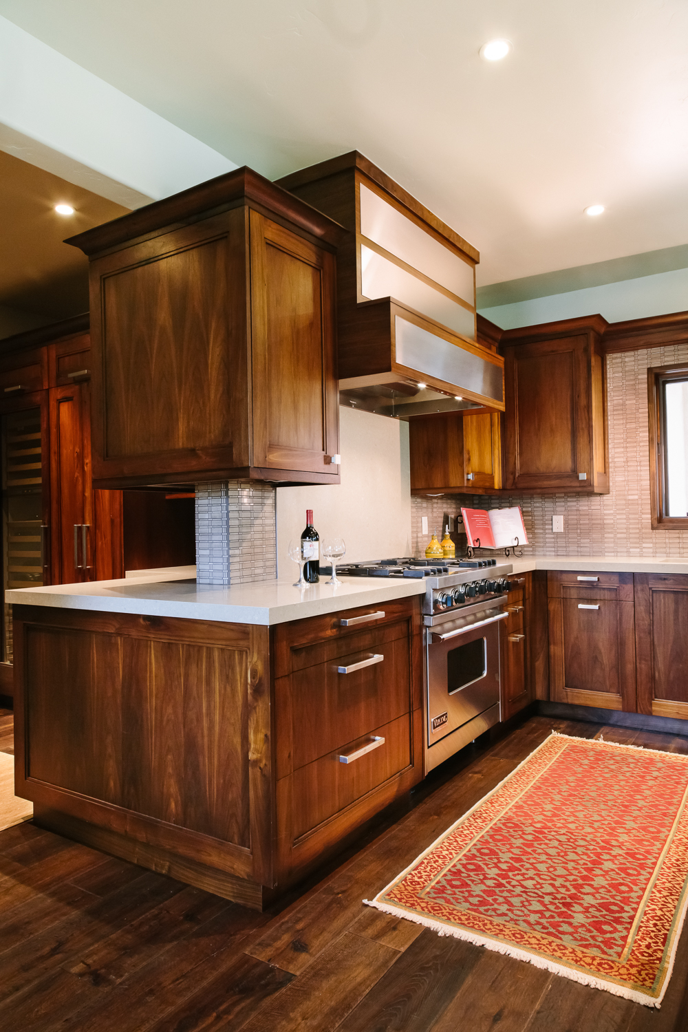 Walnut Custom Kitchen Cabinets