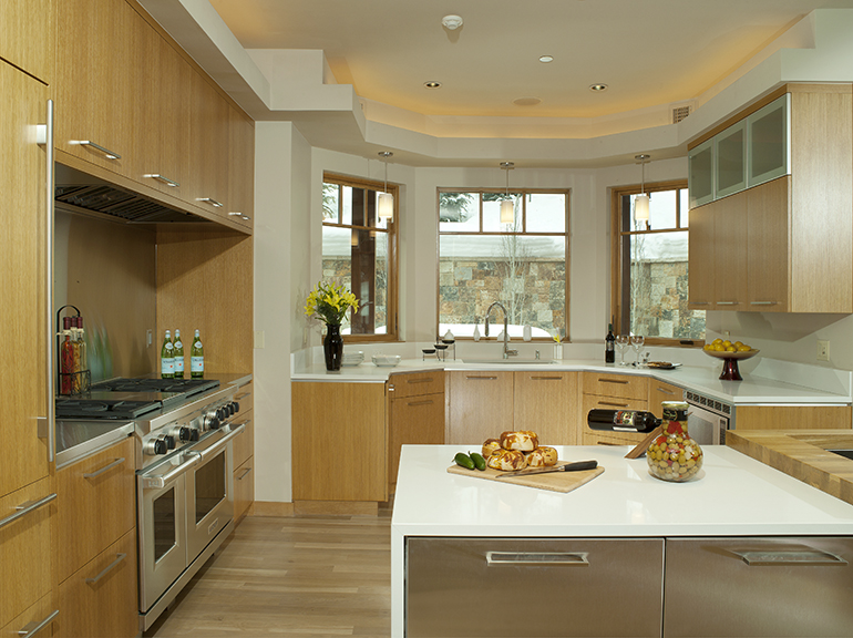 Light Wood And White Modern Kitchen With Stainless | Timeless Millworks