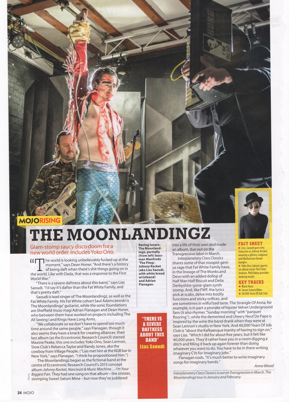 The Moonlandingz - MOJO Magazine - January 2017