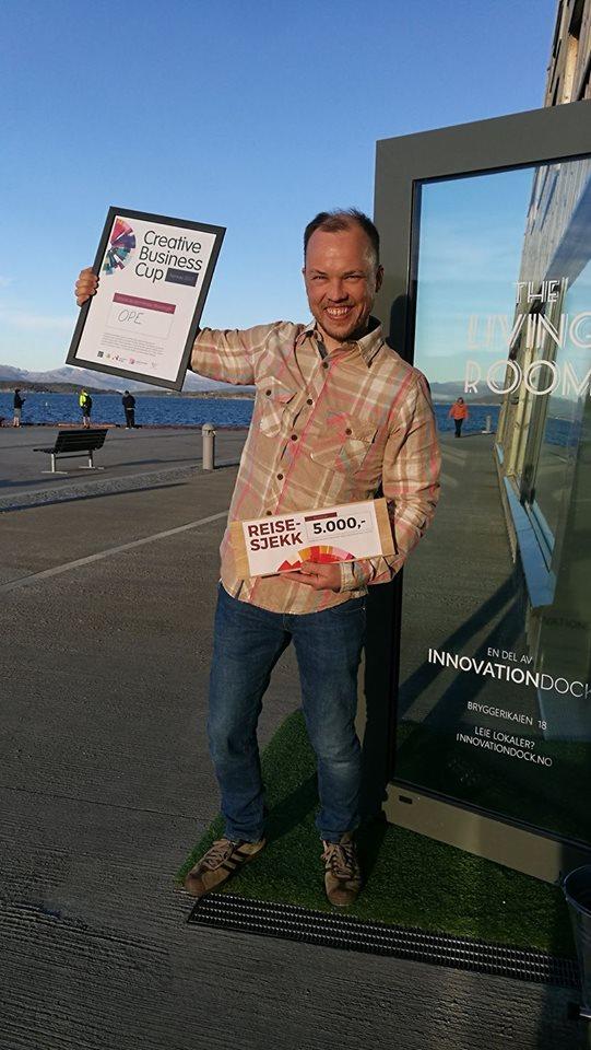 Creative Business Cup ga oss muligheten til å presentere Ope for et publikum av entreprenører og investorer med interesse og forståelse for mulighetene som ligger i de kreative næringene.I tillegg tok deltagelsen oss videre til Startup Extreme i Bergen og Voss, som er årets beste startup begivenhet i Norge. - Lars Urheim, Ope,vinner av Creative Business Cup i Stavanger 2017