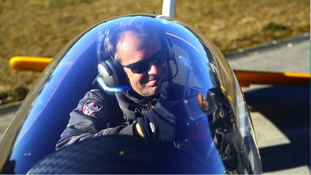 Expert Pilot Norbert Prepares To Fly The Experimental Plane