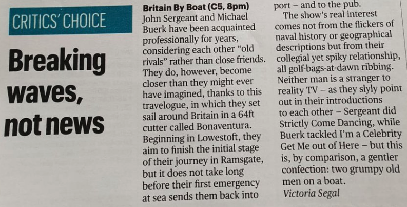 Britain By Boat - Assistant Producer