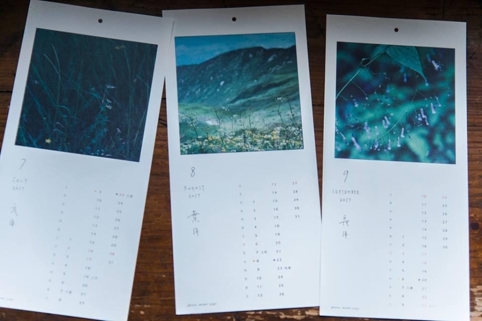七月:夏の草と花 八月:夏山と草花 九月:セキヤノアキチョウジ