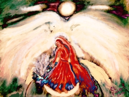 """A LARGE WHITE DOVE BEARING A MESSAGE"" BY WISE OWL CHRISTINE"