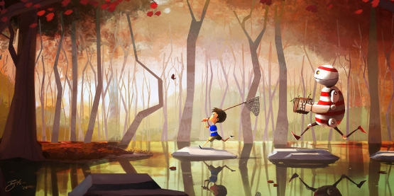 butterfly-catching-kid-and-robot-cut-photoshop-illustration-funny-digital-art-kids-children-fun.jpg