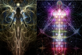 The closest image I have seen of our new bodies on the right of this picture. The left reminds me of yesterdays progression in the field, sort of. Taken from:https://cosmicawareness.info/cosmic-awareness-new-voice/