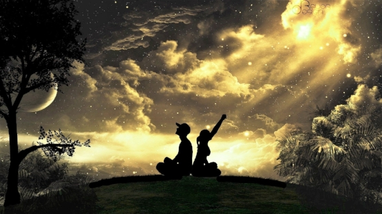 girl-guy-cap-tree-silhouettes-night-sky-clouds-star-moon.jpg