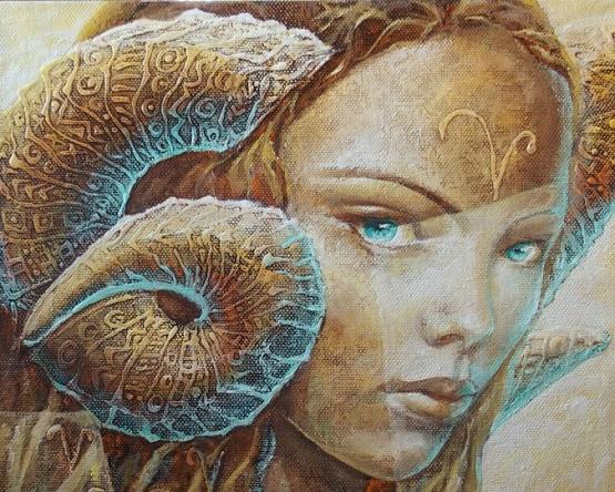 Zodiac Aries – Artist : Eurika Urbonaviciute @ Eurika Art