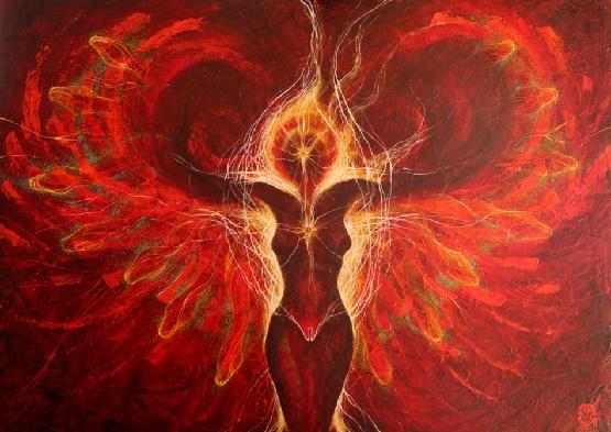 Priestess of the Fire Tribe by Martin Bridge.jpg