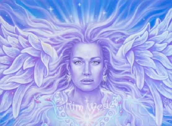 Violet Ray Angel by Kim Wedel @ Devas Unlimited