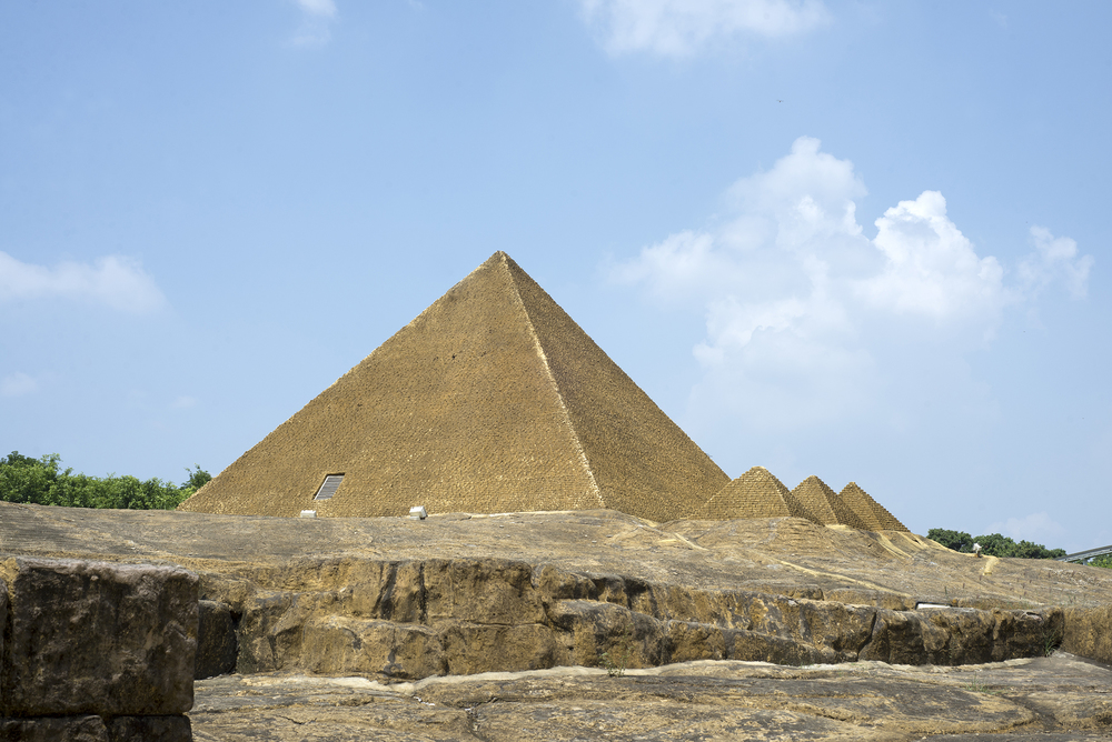 Great Pyramids of Giza. Shenzhen, China.