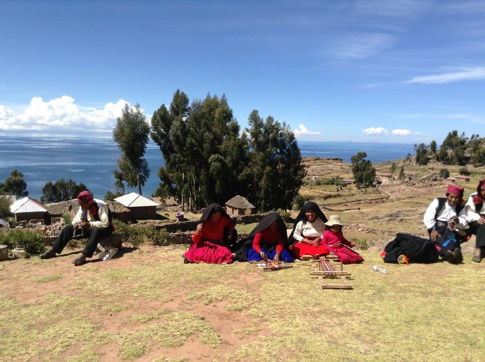 Titicaca See. Taquile.Die Insel der strickenden Männer.
