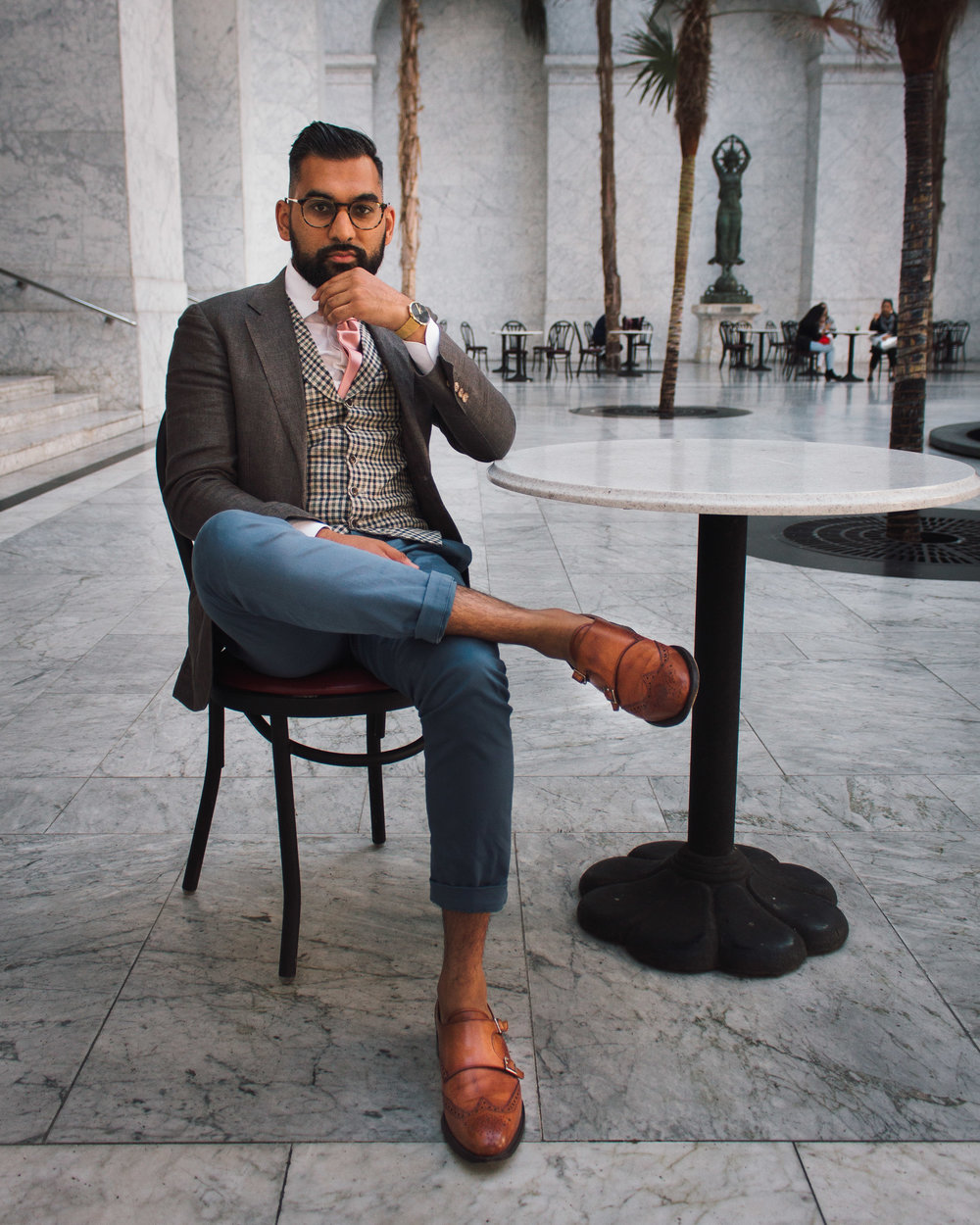 Mix the blazer up with different pants and different shoes