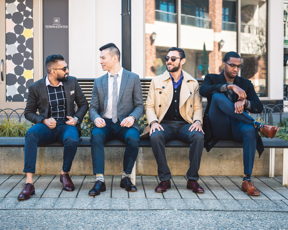 From left to right: Influencers Avi Soor,  Alex Hooi ,  Hector Diaz , &  Rashad Little