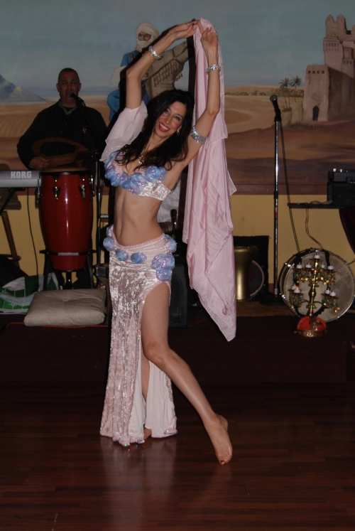 Belly Dancer Alisa at Marrakech in San Francisco, with Nader Shahin signing and and playing oud.