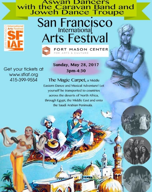 I will be performing with the Aswan Dancers at the San Francisco International Arts Festival this year.