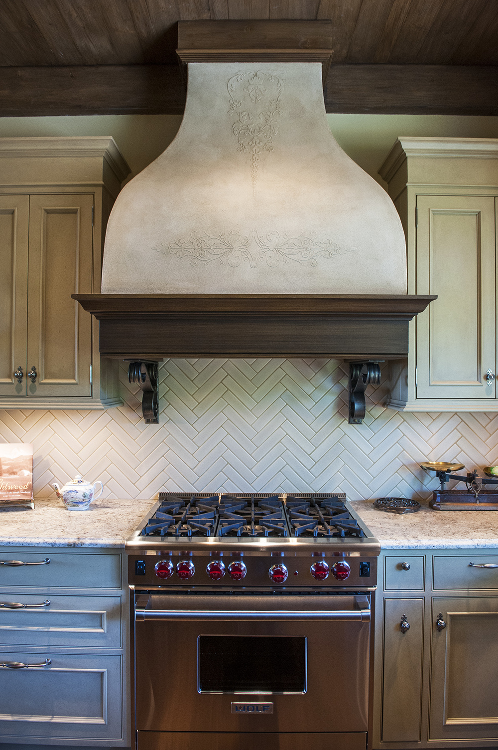 Lake Oswego Custom Home Range Hood