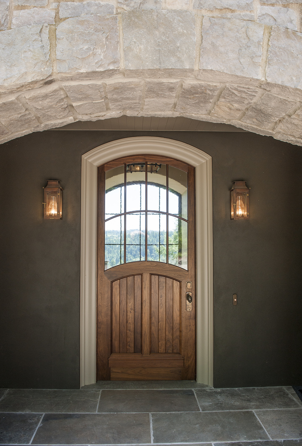 Lake Oswego Custom Home Doorway