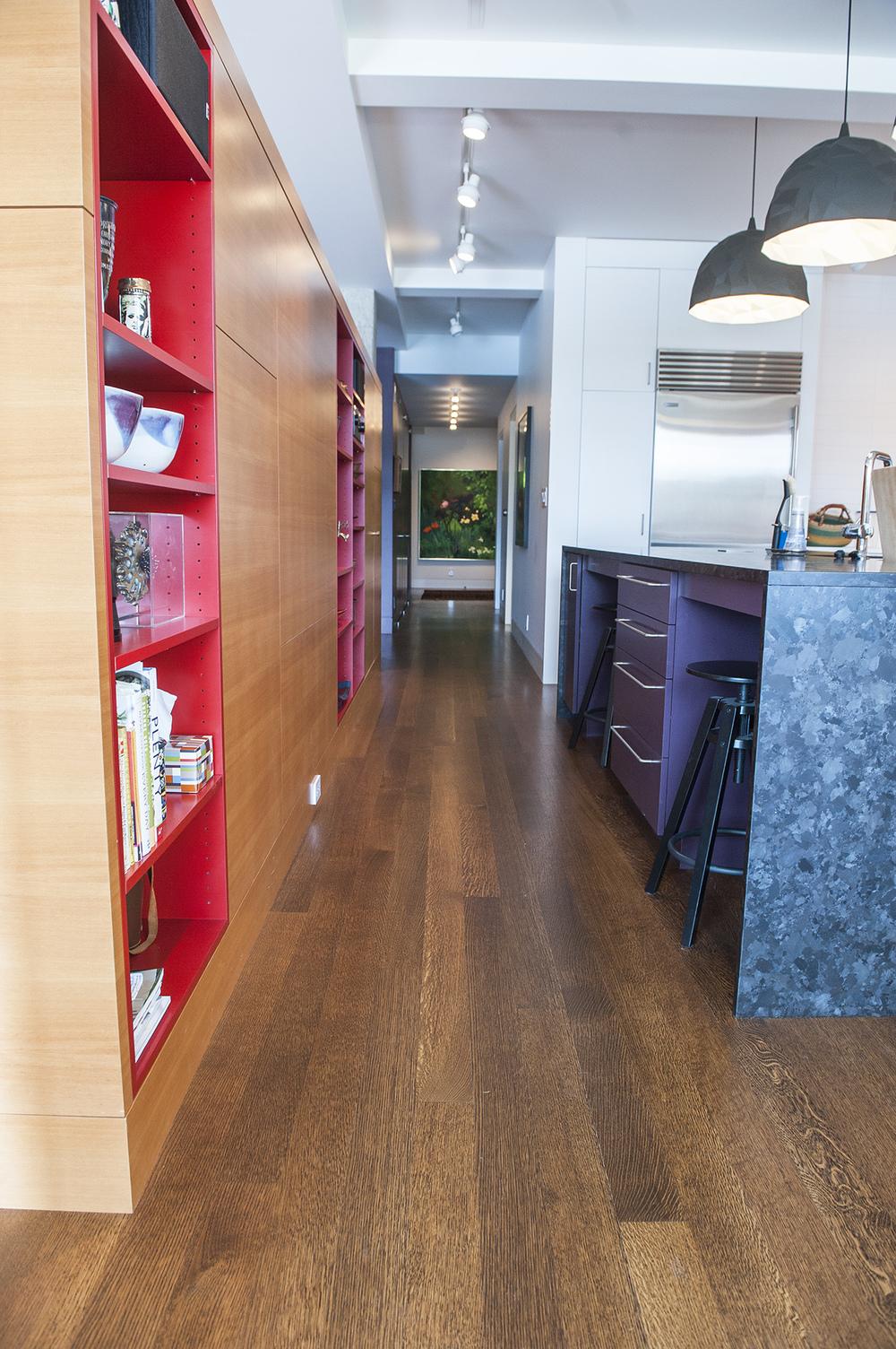Portland Contemporary Remodel Hallway