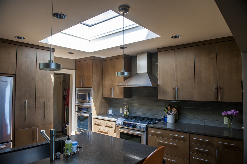 Lake Oswego Contemporary Remodel Kitchen Skylight